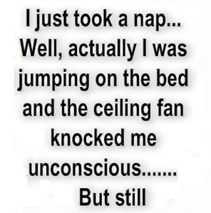 took a nap