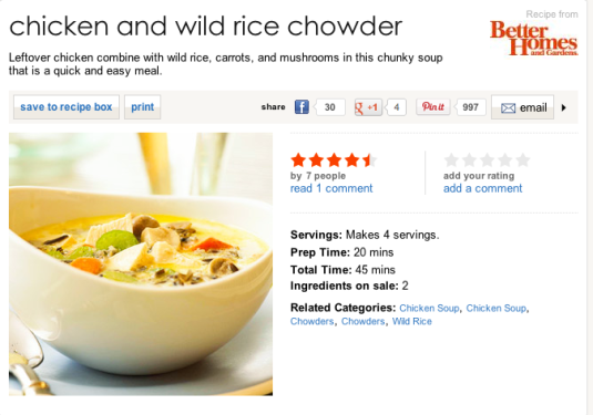 Chicken Rice Chowder