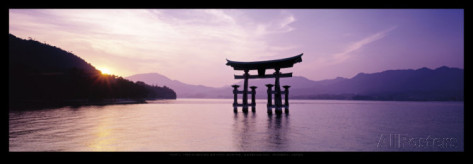 james-montgomery-flagg-le-grand-torii-du-sanctuaire-shinto-d-itsukushima-honshu-japon
